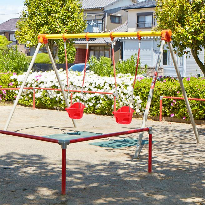 CP-01534 2連幼児用ブランコ(ロープ+シート)