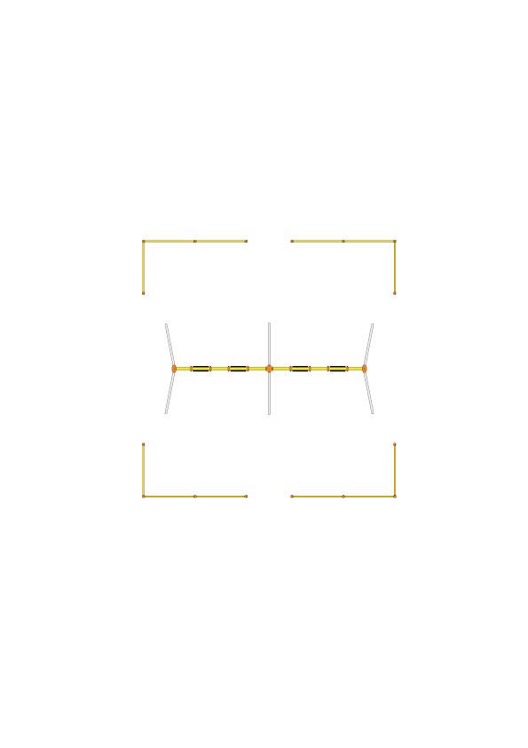 安全柵(4連用 4組セット)