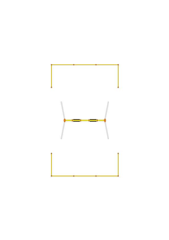 CP-01537 安全柵(2連用 2組セット)