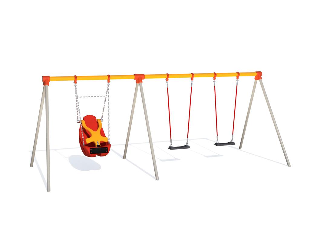 CP-01547 3連サポート付ブランコ(幼児用)