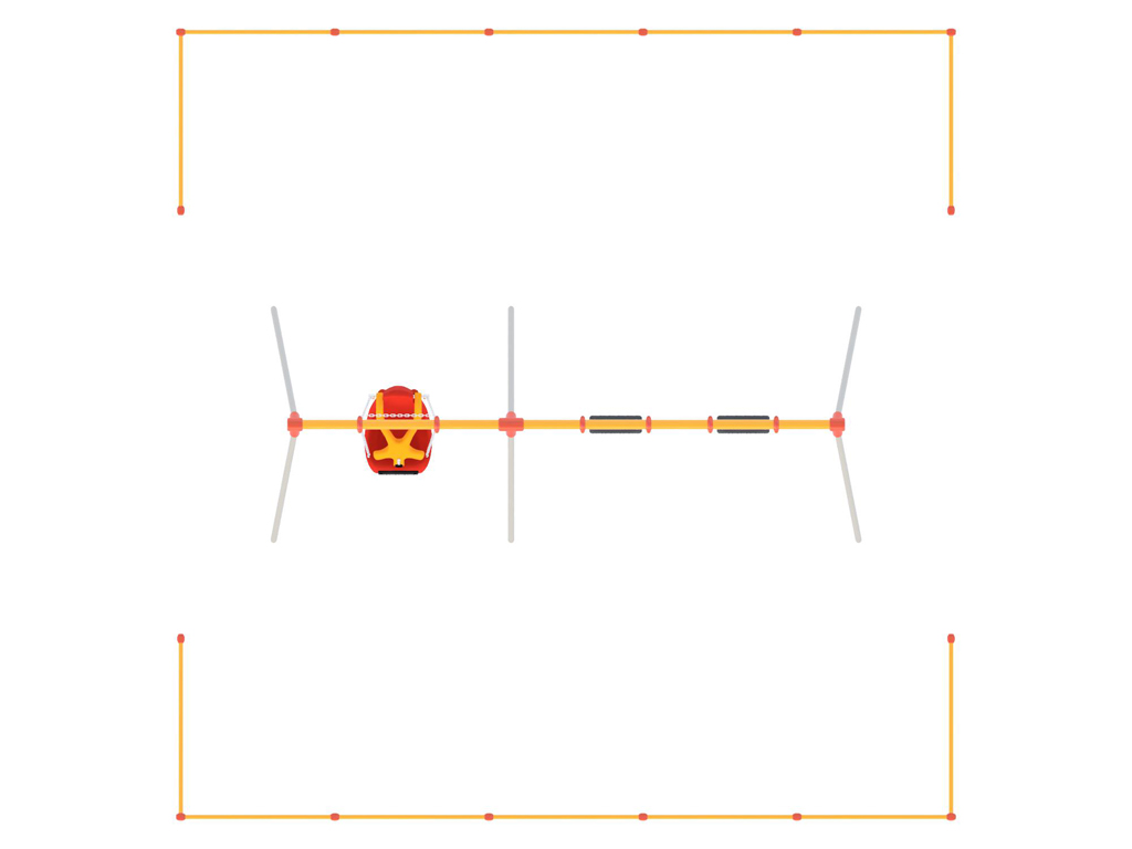 CP-01548 ブランコ安全柵(3連用2組セット)