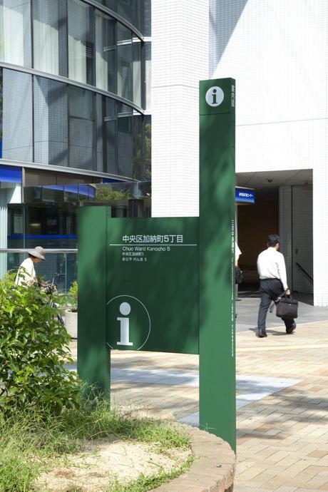 神戸市歩行者系案内サイン